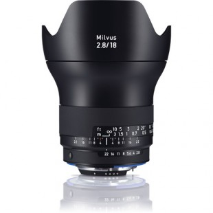 Zeiss Milvus 18mm f/2.8 ZF.2 Lens - for Nikon F