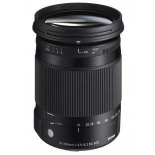 "Sigma DC 18-300mm f/3.5-6.3 ""C"" Macro OS HSM Lens - for Canon EF Mount"