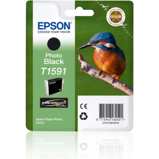 Epson Kingfisher T1591 Photo Black Ink for Stylus R2000 Printer