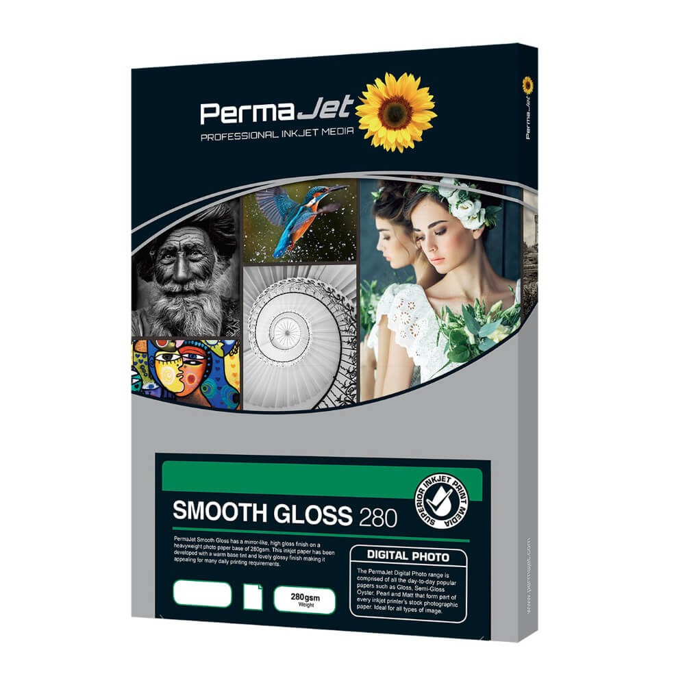Permajet Smooth Gloss 280gsm A3 Photo Paper (50 Sheets)