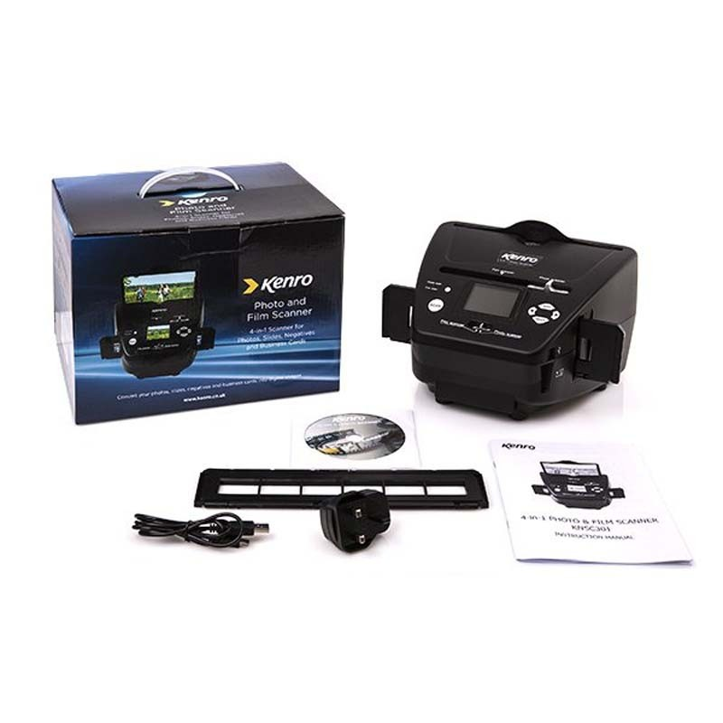 Kenro 4 in 1 Film & Photo Scanner contents