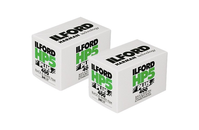Ilford HP5 Plus 35mm 36-Exposure Black & White Film - Twin Pack