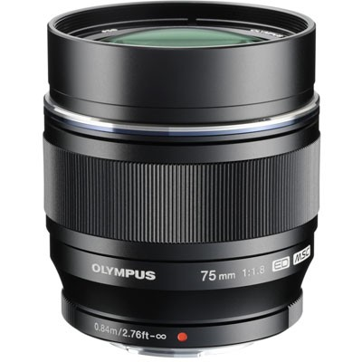 Olympus M.Zuiko DIGITAL ED 75mm f/1.8 Lens - Black