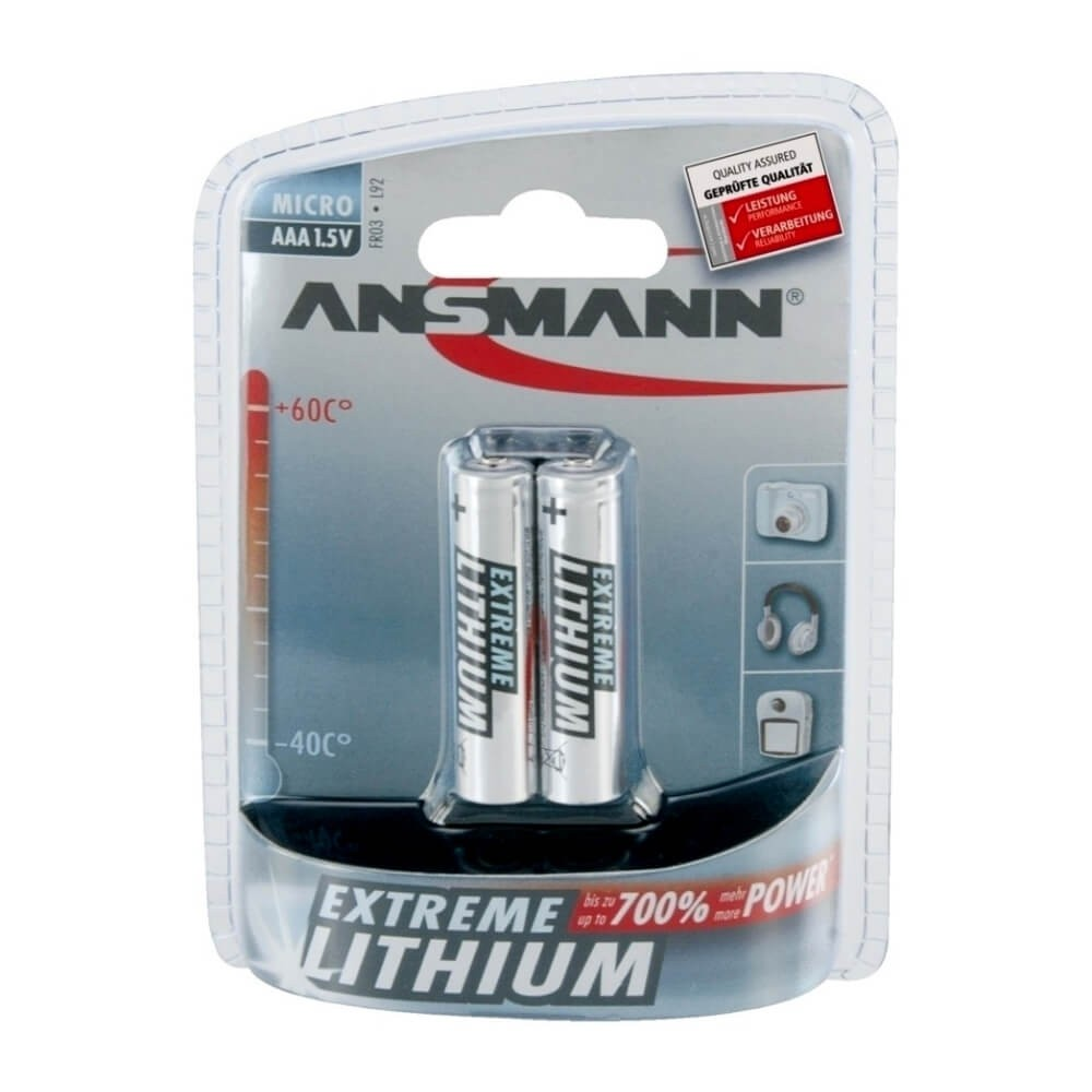 Ansmann Extreme Lithium AAA Battery 2 pack