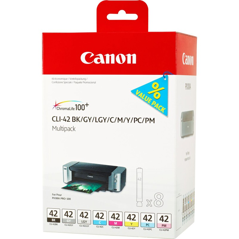Canon CLI-42 8-ink Cartridge Multipack - for Pixma PRO-100