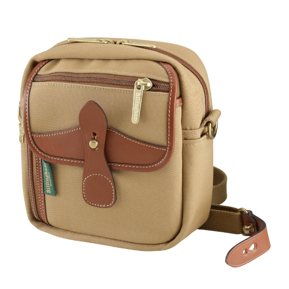Billingham Pola Stowaway Sling Bag (Khaki Canvas/Tan Leather)
