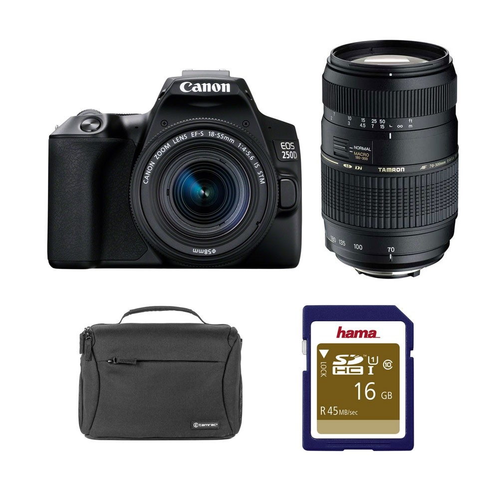 Canon EOS 250D DSLR Twin Lens Value Kit