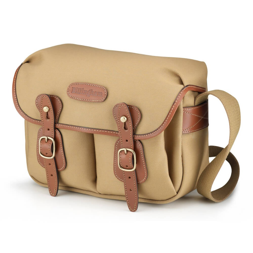 Billingham Hadley Small Shoulder Camera Bag - Khaki Canvas / Tan Leather