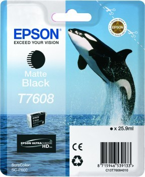 Epson Killer Whale T7608 Matte Black ink cartridge