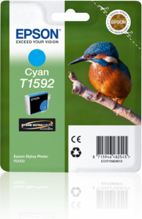 Epson Kingfisher T1592 Cyan Ink for Stylus R2000 Printer