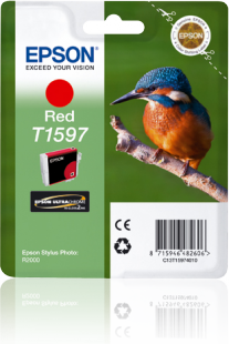 Epson Kingfisher T1597 Red Ink for Stylus R2000 Printer