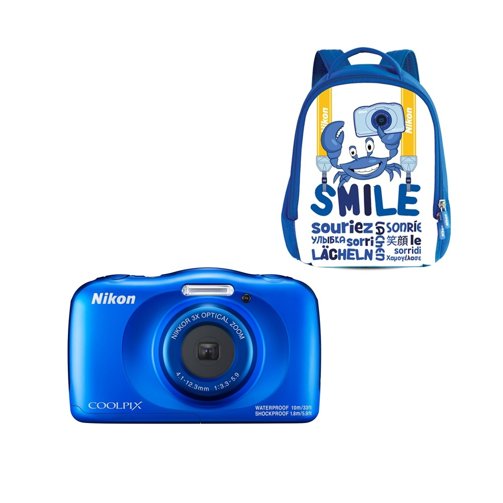 Nikon Coolpix W150 Blue Waterproof Camera Backpack Kit