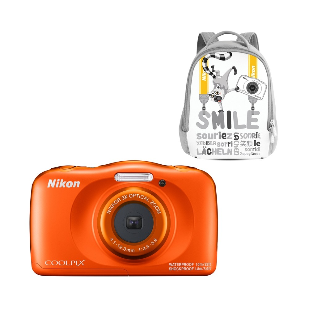 Nikon Coolpix W150 Waterproof Camera Backpack Kit (Orange)