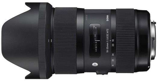 "Sigma DC 18-35mm f/1.8 HSM ""Art"" Series - for Canon EF Mount"
