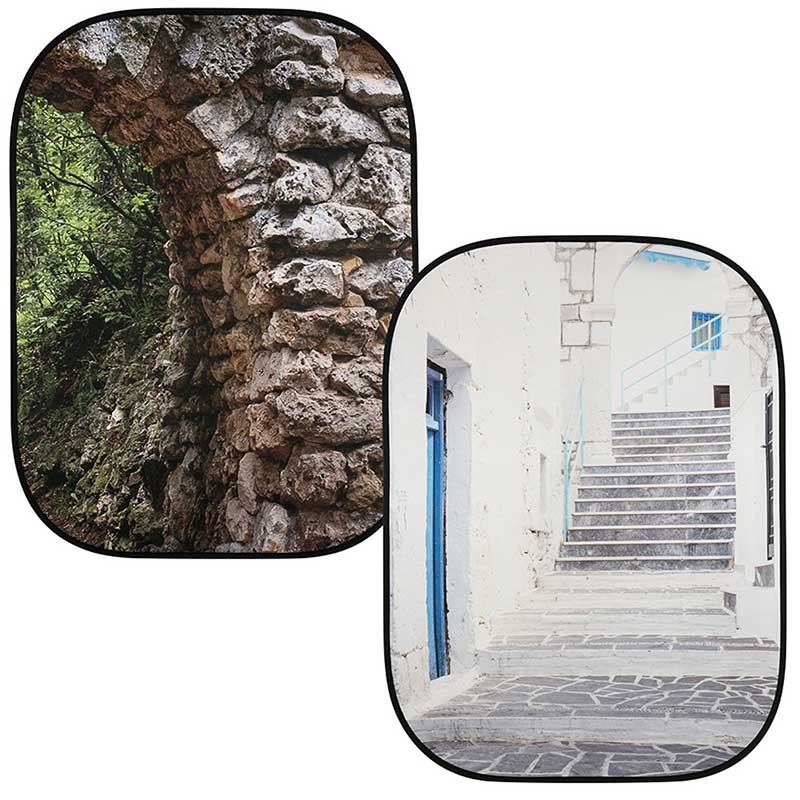 Lastolite by Manfrotto Perspective Collapsible Background stone arch / Grecian steps