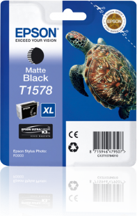 Epson Turtle T1578 T1578 MatteBlack Ink Cartridge for Stylus R3000 Printer