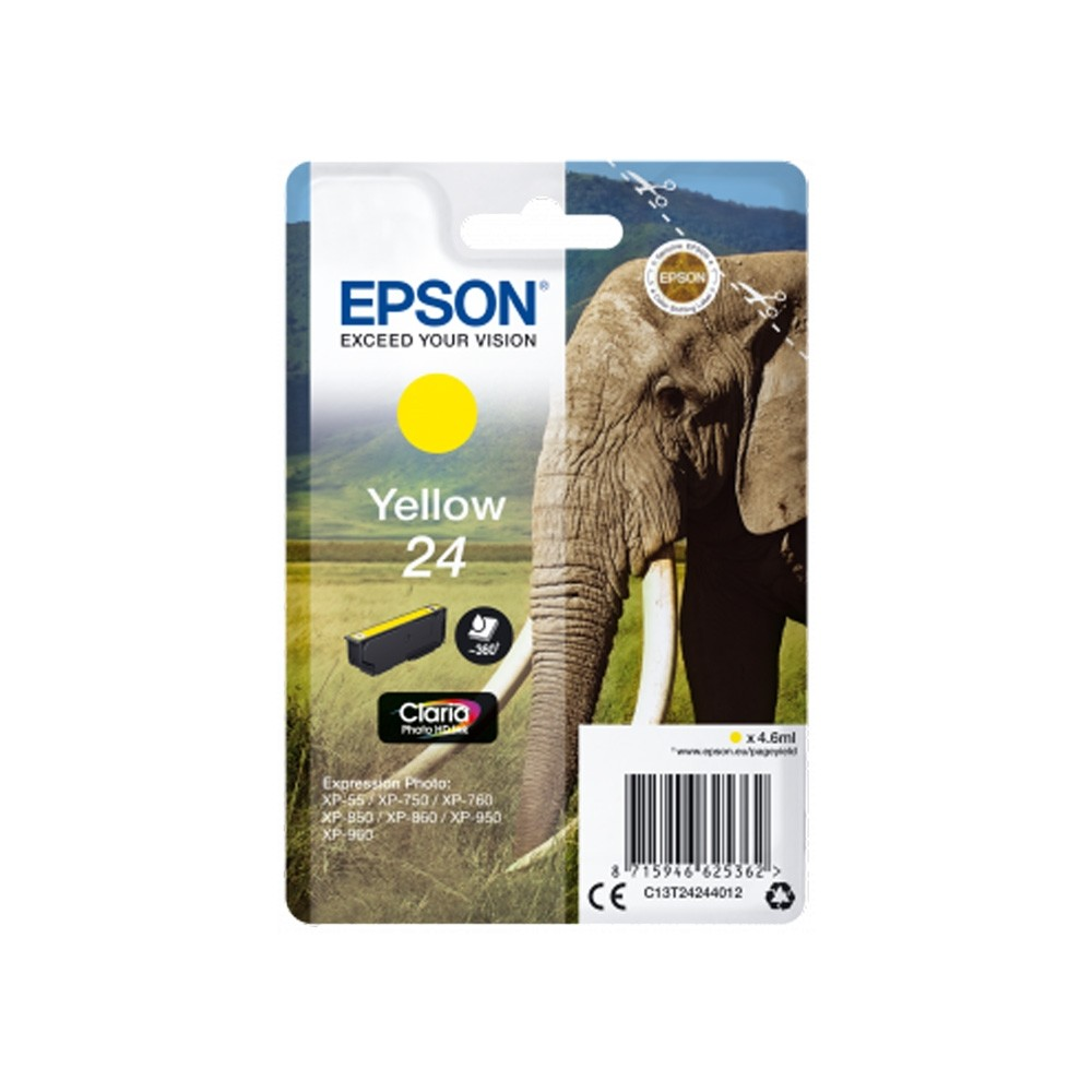 Epson Elephant 24 Yellow Claria Photo HD Ink (4.6ml)