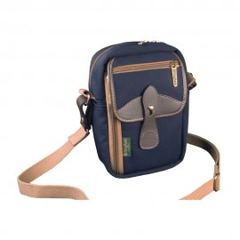 Billingham Airline Stowaway Sling Bag - Navy/Chocolate