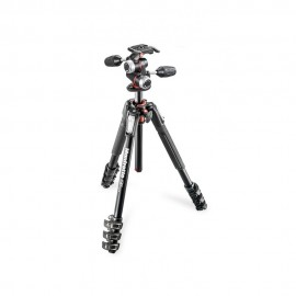 Manfrotto 190 Aluminium 4-Section Tripod with XPRO 3-Way Head