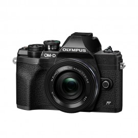 Olympus OM-D E-M10 Mark IV & EZ 14-42mm Lens - Black