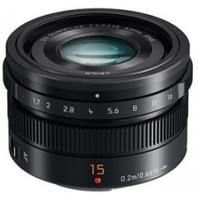 Panasonic Lumix G Leica 15mm f/1.7 Summilux DG Lens - Black