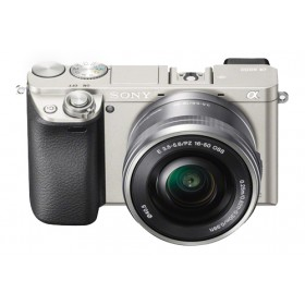 Sony Alpha 6000 Mirrorless Digital Camera & E16-50mm f/3.5-5.6 PZ Lens - Silver