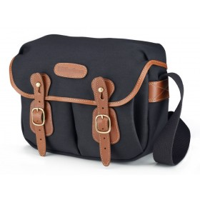 Billingham Hadley Small Shoulder Camera Bag - Black Canvas / Tan Leather