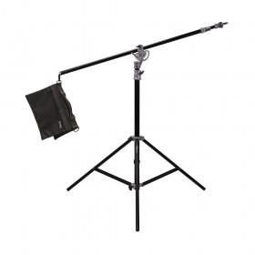 "Phottix Saldo 395 Studio Boom, Light Stand & Sandbag Combo (395cm/156"")"