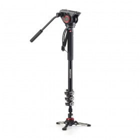 Manfrotto XPRO 4-Section Alu Video Monopod with Fluid head & FLUIDTECH Base