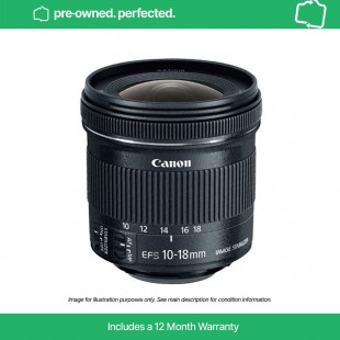 Pre-Owned Canon EF-S 10-18mm f/4.5-5.6 IS STM Lens