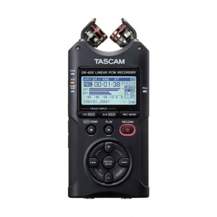 Tascam DR-40X Portable Audio Recorder with Adjustable Stereo Microphone