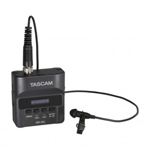 Tascam DR-10L Micro Portable Audio Recorder with Lavalier Microphone