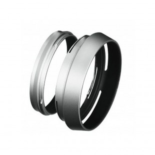 Fujifilm X100 S/ T/F Lens Hood with Adaptor Rings Silver