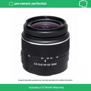 Pre-Owned Sony A 18-55mm f/3.5-5.6 SAM DT (A Mount lens)