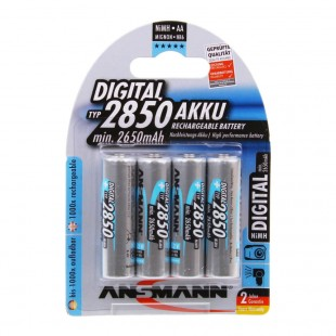 Ansmann Digital 2850mAh NiMH AA Rechargeable Battery 4 Pack