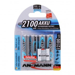 Ansmann maxE 2100mAh NiMH AA Rechargeable Battery 4 Pack