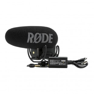 Rode VideoMic Pro+ (Plus) Directional On-camera Microphone - Front View