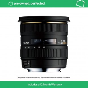 Pre-owned Sigma 10-20mm F4-5.6 EX DC HSM for Canon EF (APS-C sensors)
