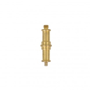 """ProMaster Double Brass Spigot 1/4""""-20 Male to 3/8"""" Male"""