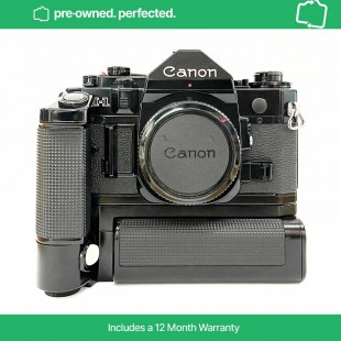 Pre-Owned Vintage Canon A-1 35mm SLR body with Power Winder