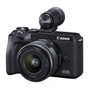 Canon EOS M6 Mark II & EF-M 15-45mm IS STM Lens plus EVF-DC2