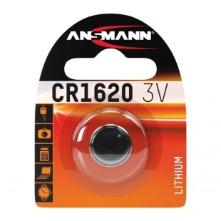 Ansmann Lithium Button Cell CR1620 Battery
