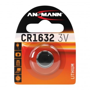 Ansmann Lithium Button Cell CR1632 Battery