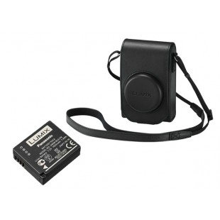 Panasonic Black Leather Case & Battery For Lumix TZ100