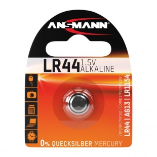 Ansmann Alkaline button cell battery LR44 / 1.5V
