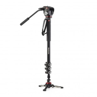Manfrotto XPRO 4-Section Video Monopod with 2-Way Head & Fluidtech Base