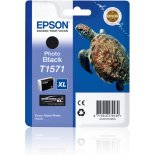 Epson Turtle T1571 Photo Black Ink Cartridge for Stylus R3000 Printer