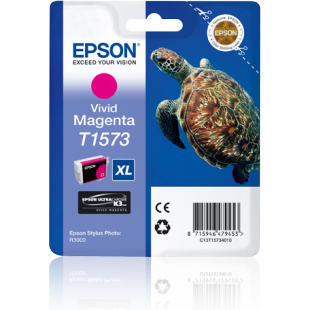 Epson Turtle T1573 Vivid Magenta Ink Cartridge for Stylus R3000 Printer