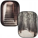 Lastolite by Manfrotto Perspective Collapsible Background Stone steps / winter trees