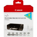 Canon PGI-29 MBK/PBK/DGY/GY/LGY/CO 6 Ink Cartridge Multipack